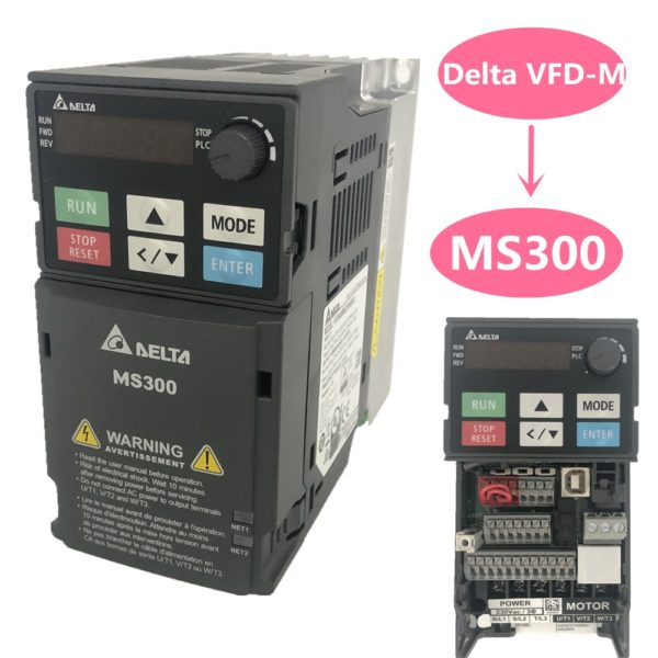 Delta MS300 Series VFD I/O - 3 Phase