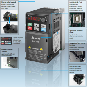 Delta MS300 Series VFD I/O – 3 Phase